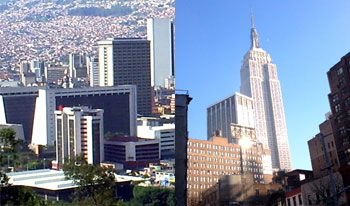 Medellin, Colombia and New York City, USA