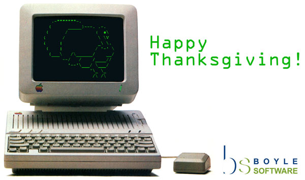 Happy Thanksgiving from Boyle Software