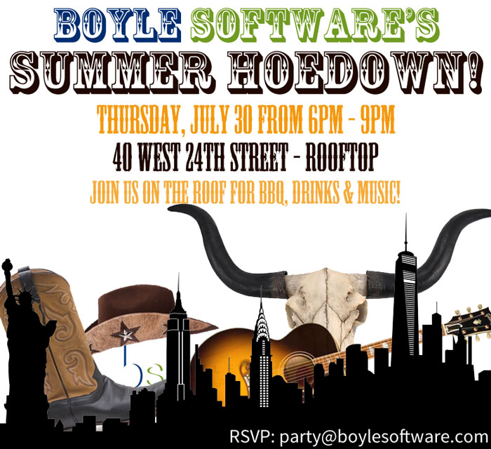 2015 Summer Hoedown invitation