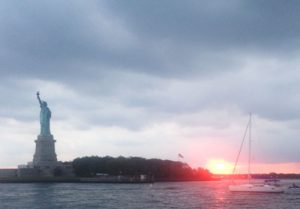 Sunset sail on the Hudson with the Statue of Liberty